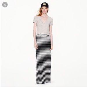J. Crew Maxi Striped Skirt